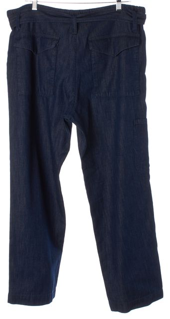 CITIZENS OF HUMANITY Blue High Rise Belted Drawstring Waist Relaxed Jeans