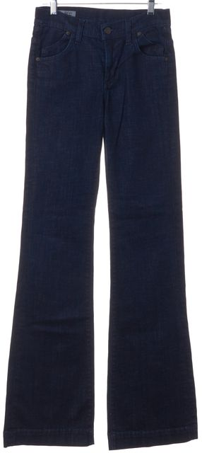 CITIZENS OF HUMANITY Blue Hutton Stretch High Rise Wide Leg Boot Cut Jeans