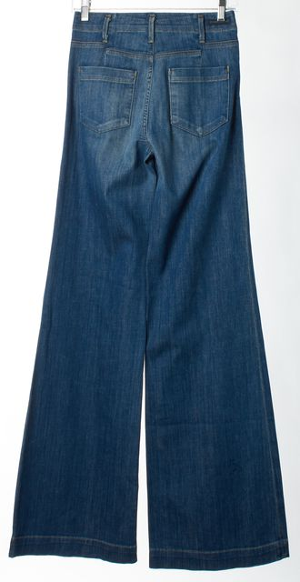 CITIZENS OF HUMANITY Blue Wide Flare Leg Boot Cut Jeans