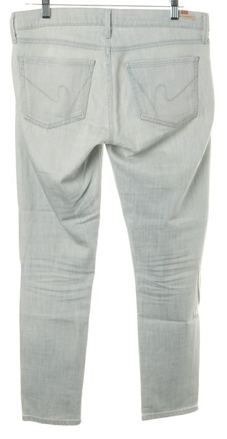 CITIZENS OF HUMANITY Blue Light Rise Cropped Mid-Rise Relaxed Jeans