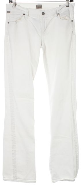 CITIZENS OF HUMANITY White Kelly Low Rise Bootcut Leg Slim Fit Jeans