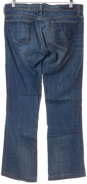 CITIZENS OF HUMANITY Blue Kelly Low Waist Boot Cut Jeans