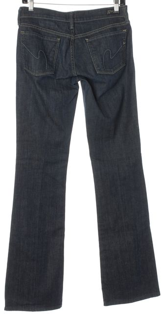 CITIZENS OF HUMANITY Blue Kelly #001 Stretch Low Waist Boot Cut Jeans