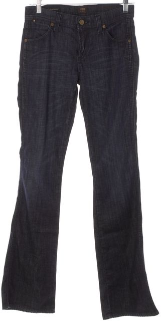 CITIZENS OF HUMANITY Blue Dark Wash Amber High-Rise Boot Cut Jeans