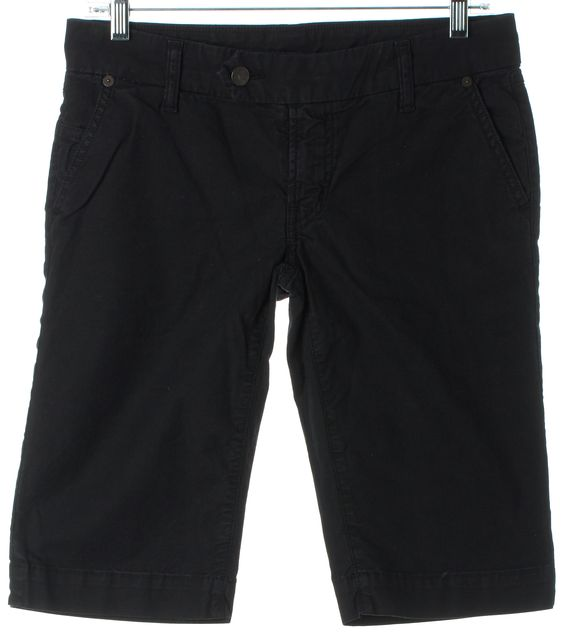 CITIZENS OF HUMANITY Black Low Rise Bermuda Walking Shorts