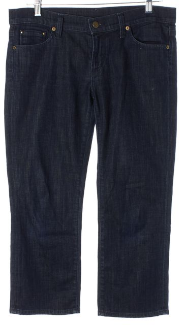 CITIZENS OF HUMANITY Blue Cotton Denim Skinny Cropped Jeans