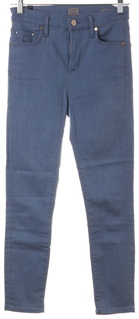 CITIZENS OF HUMANITY Blue Denim Rocket Crop High Rise Skinny Jeans
