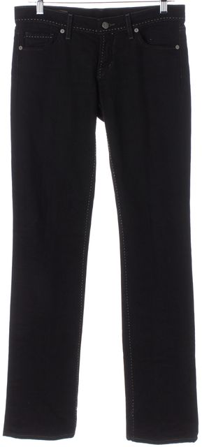 CITIZENS OF HUMANITY Black Low Waist Stretch Straight Leg Jeans