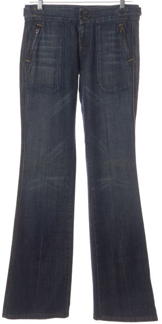 CITIZENS OF HUMANITY Blue Cotton Medium Wash Flare Jeans