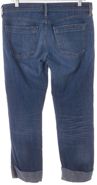 CITIZENS OF HUMANITY Blue Dani Cropped Straight Leg Jeans