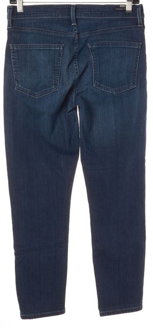 CITIZENS OF HUMANITY By Jerome Dahan Blue Mid-Rise Cropped Skinny Jeans