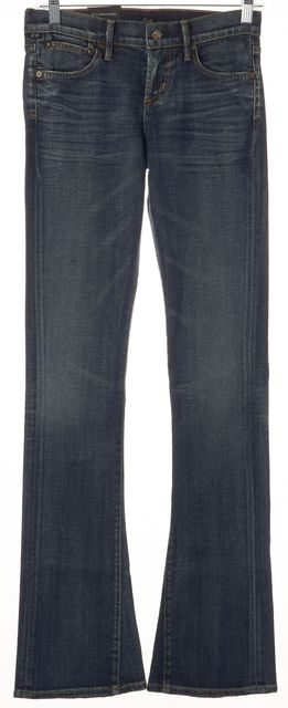 CITIZENS OF HUMANITY Blue Morrison Low Rise Slim Boot Cut Jeans
