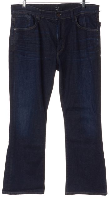 CITIZENS OF HUMANITY Blue Fleetwood High Rise Flare Cropped Jeans