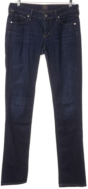 CITIZENS OF HUMANITY Blue Ava Low Rise Straight Leg Jeans