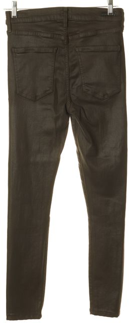 CITIZENS OF HUMANITY Brown Coated Rocket High Rise Skinny Jeans