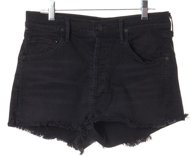 CITIZENS OF HUMANITY Black Denim Frayed Shorts