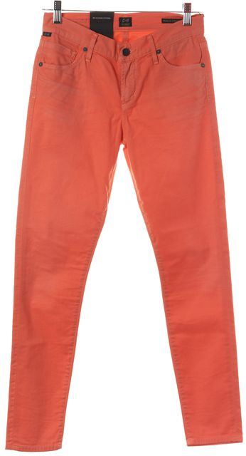 CITIZENS OF HUMANITY Orange Thompson Mid-Rise Cropped Skinny Jeans