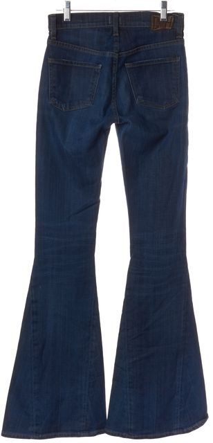 CITIZENS OF HUMANITY Blue Mid-Rise Angie Super Flare Jeans