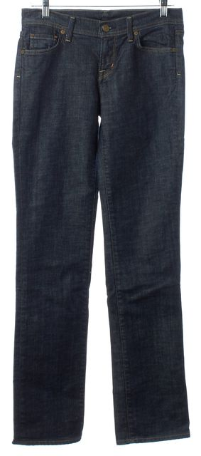 CITIZENS OF HUMANITY Navy Dark Wash Boot Cut Jeans