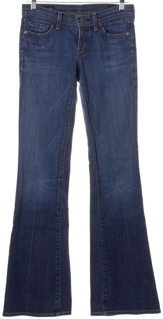 CITIZENS OF HUMANITY Blue Ingrid #002 Stretch Low Waist Flare Jeans