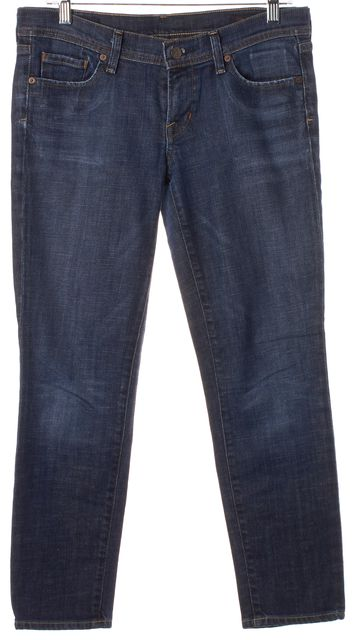 CITIZENS OF HUMANITY Blue Stretch Cotton Paley Ankle Cropped Jeans