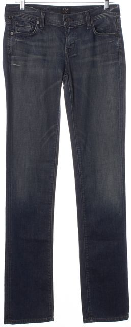 CITIZENS OF HUMANITY Blue Medium Wash Ava Low Rise Straight Leg Jeans