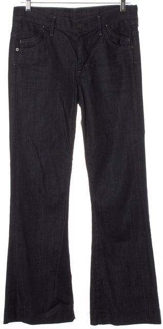 CITIZENS OF HUMANITY Blue Hutton Wide Leg Jeans