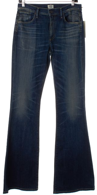 CITIZENS OF HUMANITY Navy Blue Fleetwood High-Rise Flare Jeans