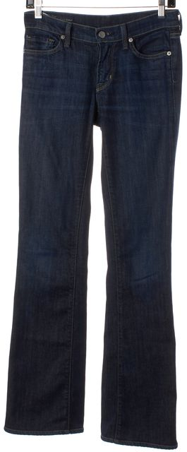 CITIZENS OF HUMANITY Dark Navy Blue High-Rise Bootcut Jeans