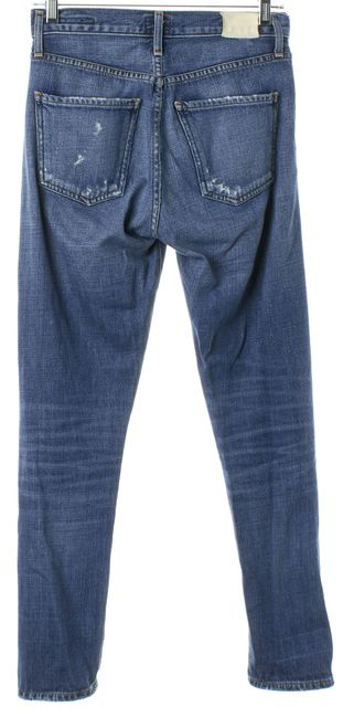 CITIZENS OF HUMANITY Blue Liya High Rise Classic Fit Crop Skinny Jeans