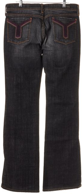 CITIZENS OF HUMANITY Washed Black Venetian 162 Kelly Stretch Boot Cut Jean