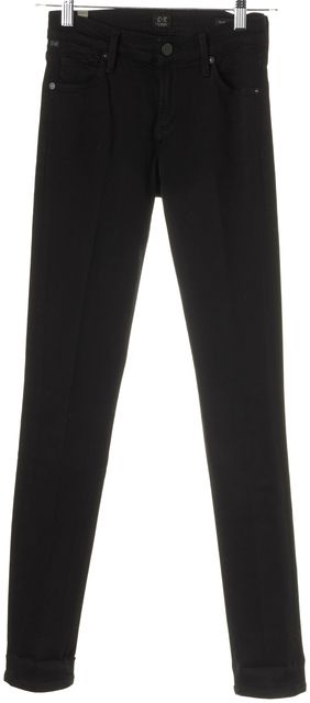 CITIZENS OF HUMANITY Black Mid-Rise Avedon Skinny Jeans
