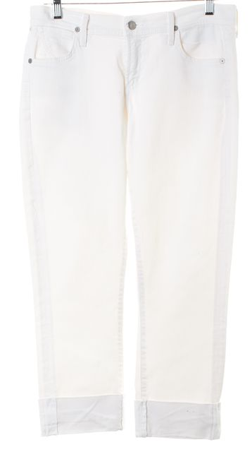 CITIZENS OF HUMANITY White Dani Cropped Straight Leg Jeans