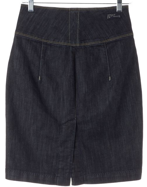 CITIZENS OF HUMANITY Blue High Waisted Double Zip Denim Pencil Skirt
