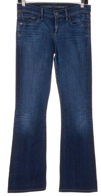 CITIZENS OF HUMANITY Blue Medium Wash Denim Dita Petite Bootcut Leg Jeans