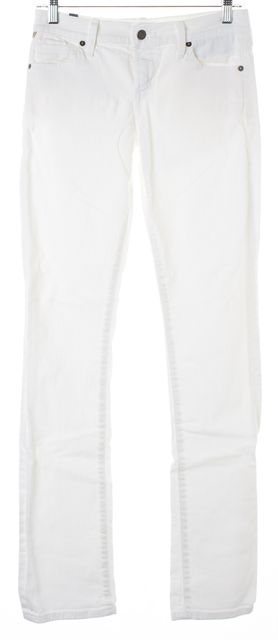 CITIZENS OF HUMANITY White Ava Low Rise Straight Leg Jeans