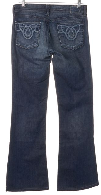 CITIZENS OF HUMANITY Blue Stretch Cotton Ingrid Low Rise Flare Jeans