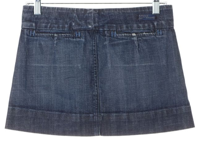 CITIZENS OF HUMANITY Blue Stretch Cotton Denim Marine Mini Skirt