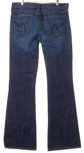 CITIZENS OF HUMANITY Blue Ingrid Low Waist Flare Jeans