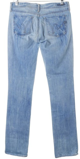 CITIZENS OF HUMANITY Blue Low Waist Straight Leg Jeans