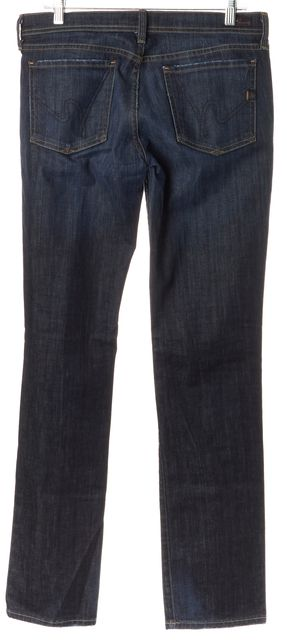 CITIZENS OF HUMANITY Blue Ava Low Waist Straight Leg Jeans