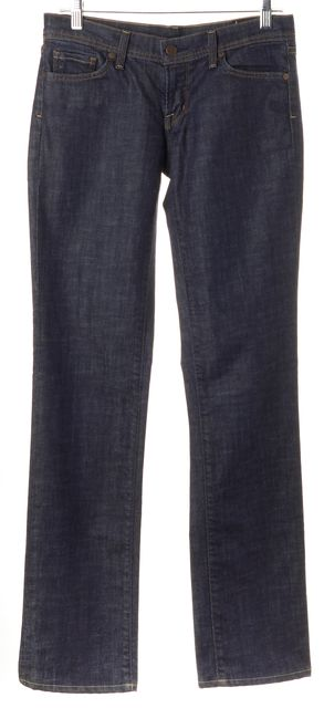 CITIZENS OF HUMANITY Blue Dark Wash Straight Leg Jeans
