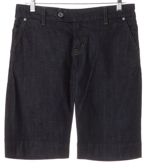 CITIZENS OF HUMANITY Blue Stretch Cotton Bermuda Denim Shorts