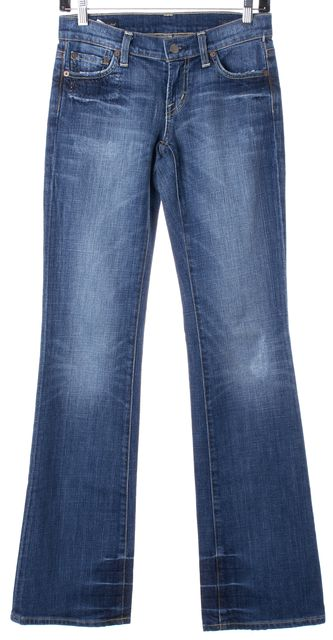 CITIZENS OF HUMANITY Blue Boho Low Waist Boot Cut Jeans