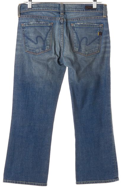 CITIZENS OF HUMANITY Blue Cropped Jeans