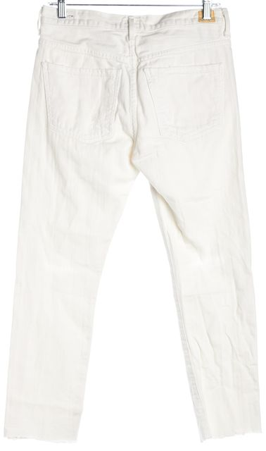CITIZENS OF HUMANITY White Slouchy Slim Fit Distressed Jeans