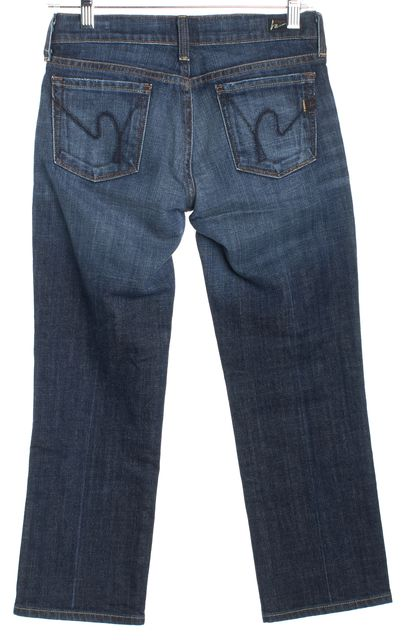 CITIZENS OF HUMANITY Blue Straight Leg Skinny Classic Rise Jeans