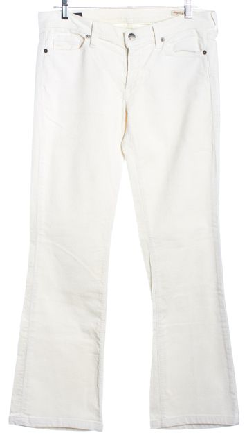 CITIZENS OF HUMANITY Ivory White Low-Rise Flair Corduroy Pants