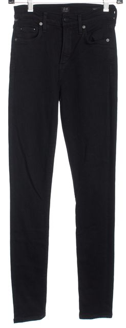 CITIZENS OF HUMANITY Black High Rise Skinny Jeans