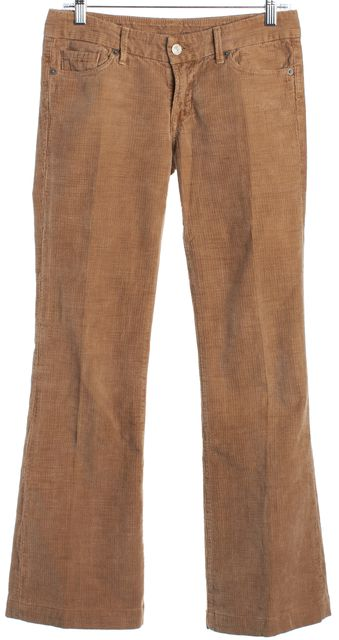 CITIZENS OF HUMANITY Camel Brown Faye Wide Leg Corduroys Pants